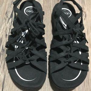 ABEO Black Sandals